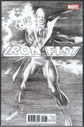 Picture of IRON FIST #1 (2017) ROSS B&W VAR