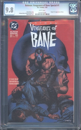 Picture of BATMAN: VENGEANCE OF BANE SPECIAL #1 CGC 9.8 NM/MT WP (6329)