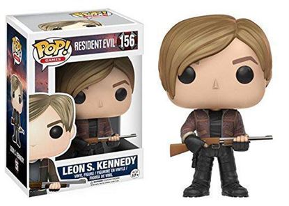 Picture of FUNKO POP GAMES RESIDENT EVIL LEON S. KENNEDY #156 VINYL FIGURE NEW
