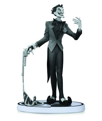 Picture of BATMAN BLACK & WHITE STATUE JOKER BY JIM LEE 2ND ED