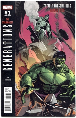 Picture of GENERATIONS BANNER HULK & TOTALLY AWESOME HULK #1 BUFFAGNI 1:25 VAR