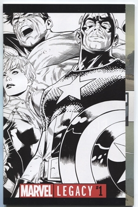 Picture of MARVEL LEGACY #1 QUESADA BW VAR NM+