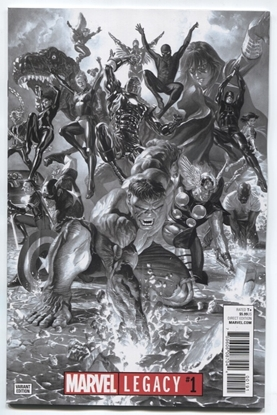 Picture of MARVEL LEGACY #1 ROSS BW VAR NM