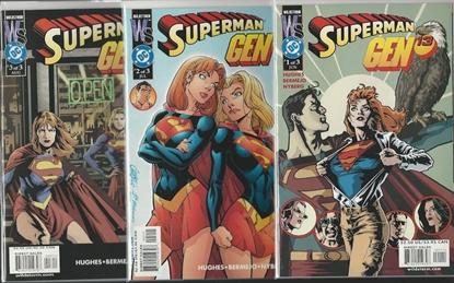 Picture of SUPERMAN GEN 13 #1 2 3 SET ADAM HUGHES NM