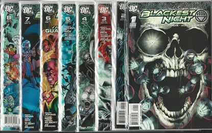 Picture of BLACKEST NIGHT # 1 2 3 4 5 6 7 8 NM SET JOHNS REIS
