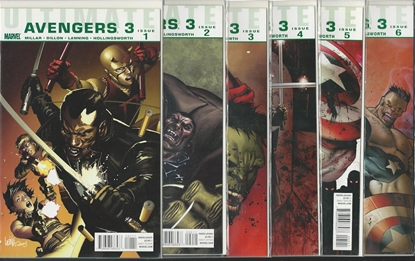 Picture of ULTIMATE AVENGERS 3 #1 2 3 4 5 6 SET NM MILLAR