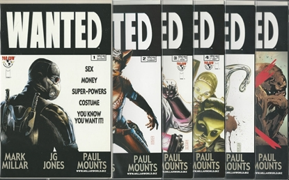 Picture of WANTED #1 2 3 4 5 6 1ST PRINT SET TOP COW MILLAR NM MOVIE