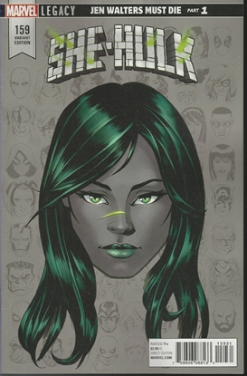 Picture of SHE-HULK #159 MCKONE LEGACY HEADSHOT VAR LEG