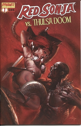 Picture of RED SONJA VS THULSA DOOM #1 DELL'OTTO NM-