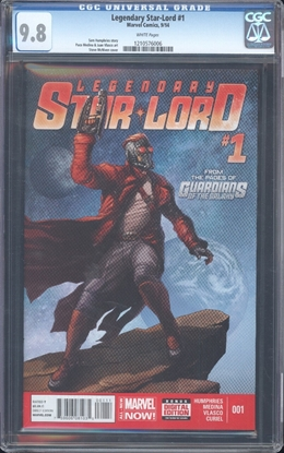 Picture of LEGENDARY STAR-LORD (2014) #1 CGC 9.8 NM/MT WP (2138)