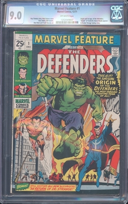 Picture of MARVEL FEATURE (1971) #1 CGC 9 VF/NM OW (2952)