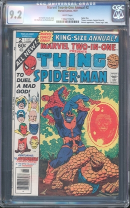 Picture of MARVEL TWO IN ONE ANNUAL (1974) #2 CGC 9.2 NM- WP (6682)