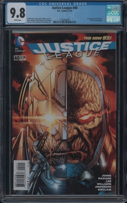 Picture of JUSTICE LEAGUE #40 CGC 9.8 NM/MT 1ST APP OF GRAIL DARK SEIDS DAUGHTER (ID 7320)