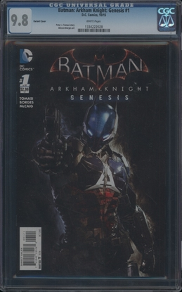 Picture of BATMAN ARKHAM KNIGHT: GENESIS (2015) #1 CGC 9.8 NM/MT WP (6898)