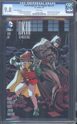 Picture of DARK KNIGHT III: THE MASTER RACE (2016) #1 CGC 9.8 NM/MT WP (7004)