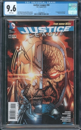 Picture of JUSTICE LEAGUE #40 CGC 9.6 NM+ 1ST APP OF GRAIL DARK SEIDS DAUGHTER (ID 7319)