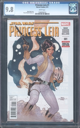Picture of STAR WARS: PRINCESS LEIA (2015) #1 CGC 9.8 NM/MT (7056)