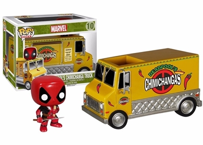 Picture of POP RIDES DEADPOOLS CHIMICHANGA TRUCK VIN FIG