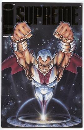 Picture of SUPREME (1992) #1 GOLD FOIL LOGO NM