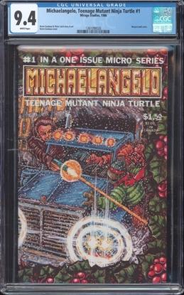 Picture of MICHAELANGELO TEENAGE MUTANT NINJA TURTLES (1986) #1 CGC 9.4 NM