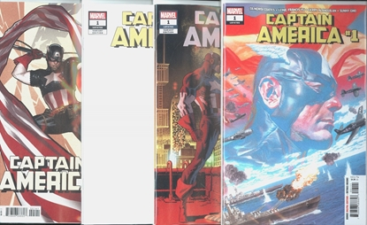 Picture of CAPTAIN AMERICA #1 4 COVER SET NM
