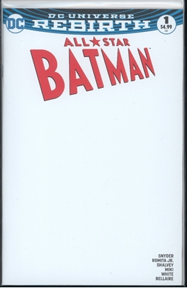 Picture of ALL STAR BATMAN #1 BLANK CVR