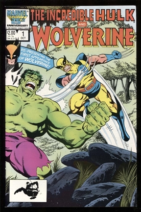 Picture of INCREDIBLE HULK AND WOLVERINE (1986) #1 9.6 NM+ WP (1571)