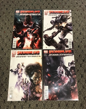 Picture of SHADOWLAND BLOOD ON THE STREETS #1-4 1ST PRINT SET NM