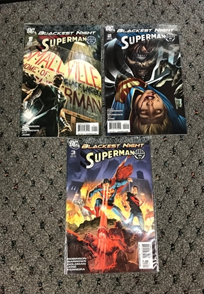 Picture of BLACKEST NIGHT SUPERMAN #1-3 1ST PRINT SET VF/NM