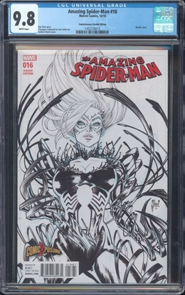 Picture of AMAZING SPIDERMAN (2016) #16 CGC 9.8 NM/MT VARIANT SKETCH COVER (ID 7475)