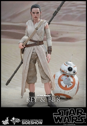 Picture of HOT TOYS REY AND BB8 1/6 MOVIE MASTER PIECE COLLECTION