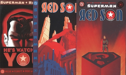 Picture of SUPERMAN RED SON #1-3 1ST PRINT SET