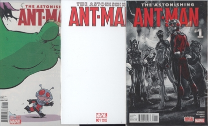 Picture of ASTONISHING ANT-MAN #1 1ST PRINT BLANK YOUNG VARIANT COVER SET NM
