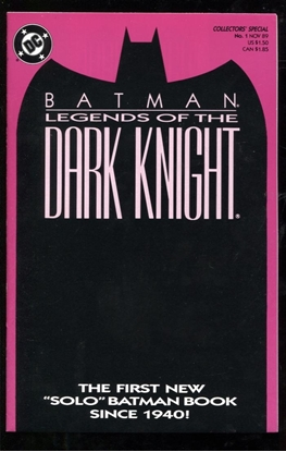 Picture of BATMAN LEGENDS OF THE DARK KNIGHT (1989) #1 PURPLE VAR 9.0 VF/NM