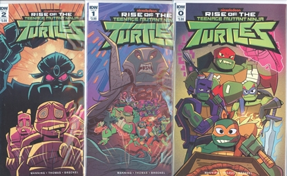 Picture of RISE OF TMNT #0 1 2 CVR A 1ST PRINT SET NM