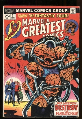 Picture of MARVEL'S GREATEST COMICS (1969) #51 4.0 VG