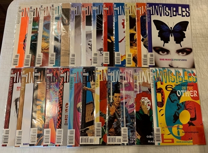 Picture of THE INVISIBLES (1994) #1-25 VOL 1  #1-22 VOL 2 #1-12 VOL 3 COMPLETE SET VF/NM