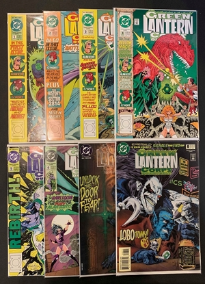 Picture of GREEN LANTERN CORPS QUARTERLY #1 2 3 4 5 6 7 8 1-8 1ST PRINT HIGH GRADE SET