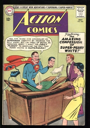 Picture of ACTION COMICS (1938) #302 5.0 VG/FN