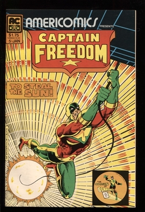 Picture of AMERICOMICS PRESENTS #5 CAPTAIN FREEDOM 9.6 NM+