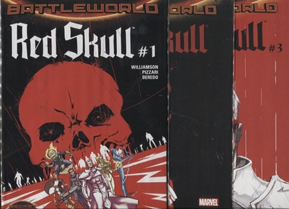 Picture of RED SKULL 1 2 3 SET 1ST PRINT SET