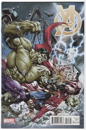 Picture of YOUNG AVENGERS #11 THOR BATTLE DEODATO VARIANT THOR VS HULK