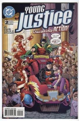 Picture of YOUNG JUSTICE (1998) #2 9.4 NM DAVID NAUCK STUCKER
