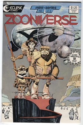 Picture of ZOONIVERSE #1 9.4 NM ECLIPSE COMICS